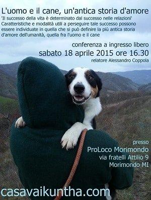 conferenza cinofila sulla relazione d'amore tra uomo e cane