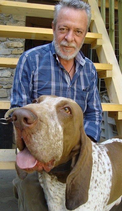 cane e padrone bracco italiano