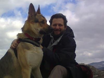 cane e padrone pastore tedesco