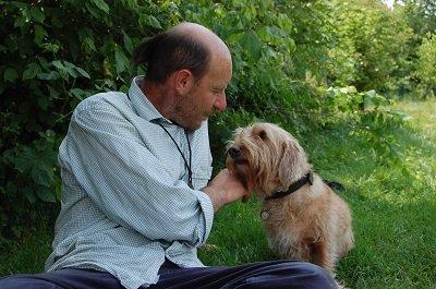 cane e padrone petit basset griffon vendeen