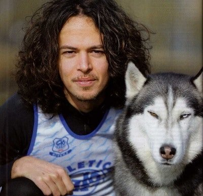 cane e padrone siberian husky