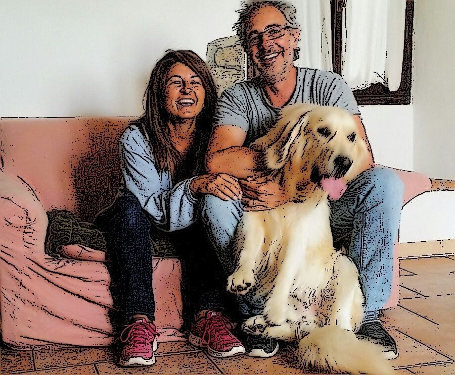 vivere con un cane golden retriever