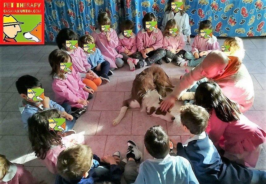 pet therapy alla scuola materna