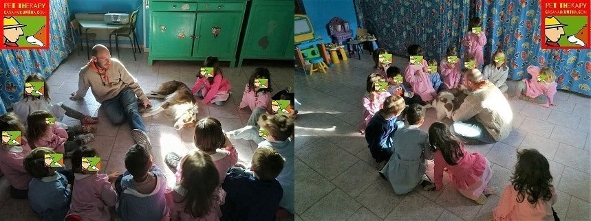 pet therapy alla scuola materna di volpedo