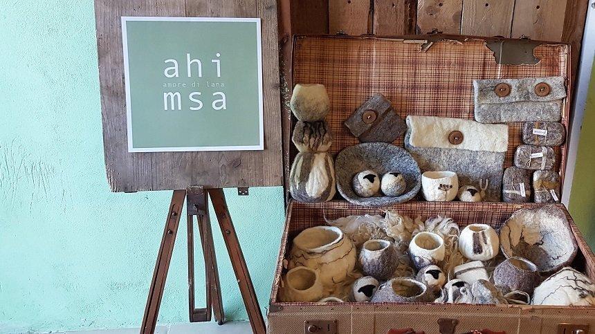 dimostrazione progetto lana ahimsa amore di lana