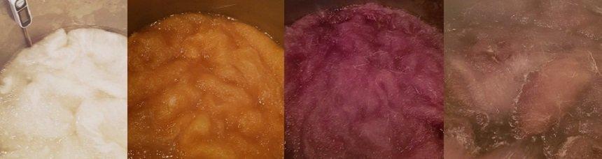 tintura naturale della lana a caldo ahimsa amore di lana
