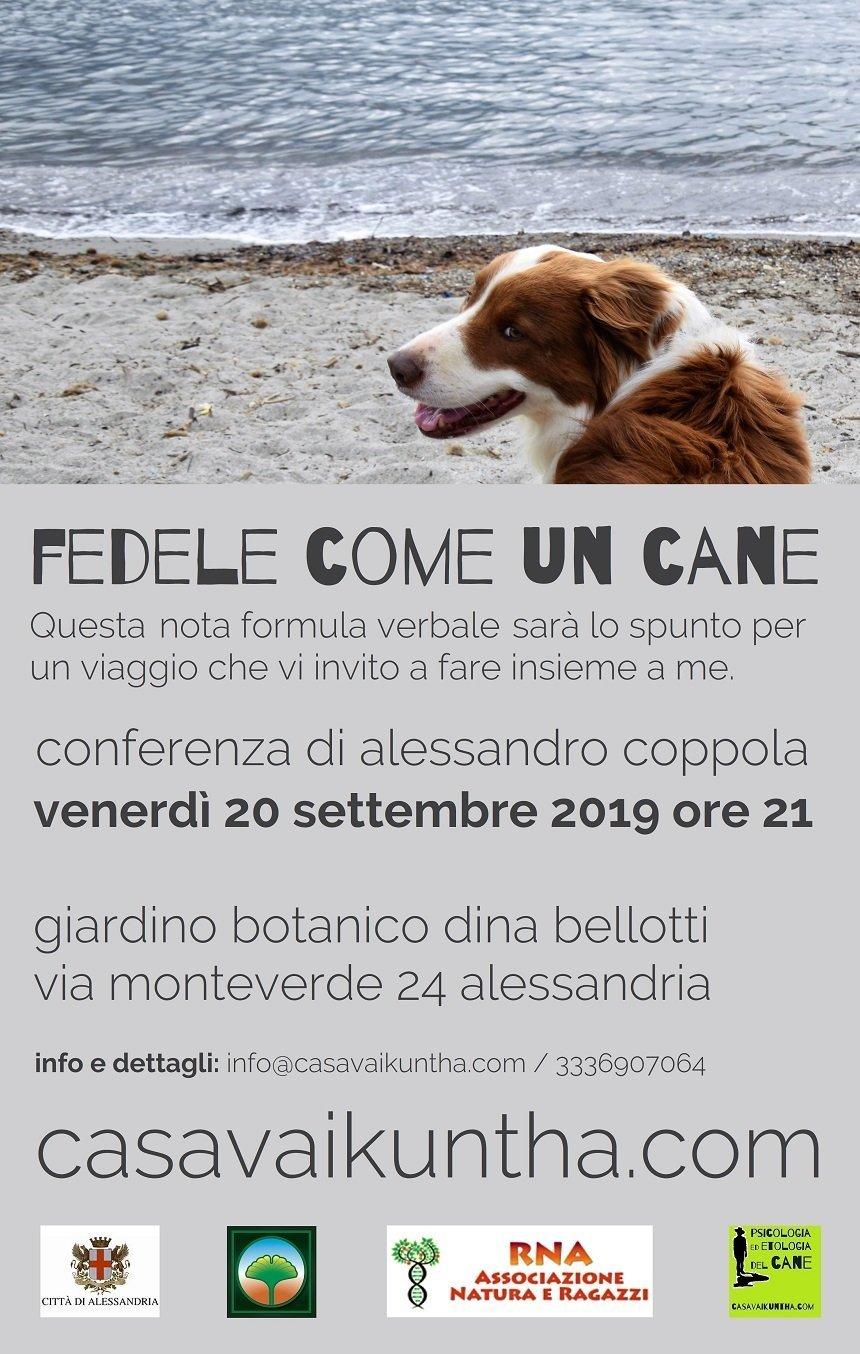 locandina conferenza: fedele come un cane